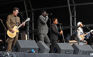 The Specials performed as special guests performs at the Bestival Festival on the Isle of Wight