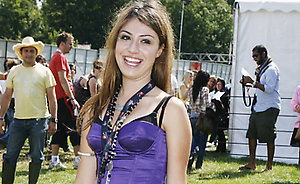 Gabriella Cilmi backstage on the second day of the V Festival at Hylands Park, Chelmsford.