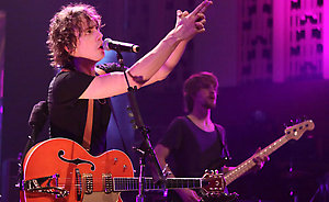 Picture shows: RAZORLIGHT performing at the Philharmonic Hall - Liverpool for the BBC Electric Proms 2008 on Sat 25th October.