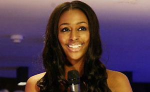 Alexandra Burke is seen performing at the Secret X Factor gig at The Carphone Warehouse, on Oxford Street in central London.