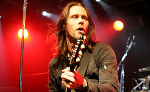 Myles Kennedy of Alter Bridge performs on stage at Rock City in Nottingham.