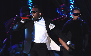 Kanye West performs at the Youth Inaugural Ball held at the Washington Hilton. Washington, January 20, 2009. (Pictured: Kanye West). Photo by Douliery/Hahn/AbacaUsa.com