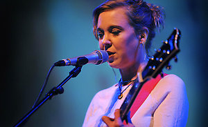 Kristin Hersh performing in concert at the Queen Elizabeth Hall in London.