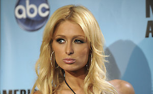 Paris Hilton backstage at the American Music Awards in Los Angeles on Sunday, Nov. 23, 2008. (AP Photo/Chris Pizzello)