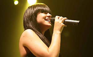 Lily Allen performing on stage at Koko in Camden, north London.