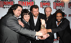 Elbow with the Oustanding Contribution award at the Shockwaves NME Awards 2009 at the 02 Academy, Brixton, London