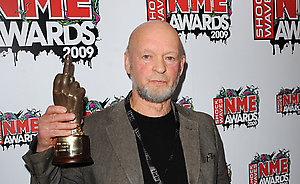 Michael Eavis with the Best Live Event award for Glastonbury at the Shockwaves NME Awards 2009 at the 02 Academy, Brixton, London