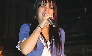 Lily Allen performs at G-A-Y in the Heaven nightclub, London.