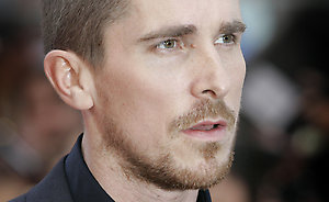 British actor Christian Bale arrives for the European Premiere of The Dark Knight, in central London, Monday July 21 2008. (AP Photo/Joel Ryan)