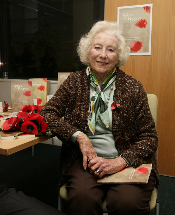Dame Vera Lynn attends a photocall to launch 'Voices of the Poppies - an anthology from Forces Poetry' at the Jubilee Library in Brighton.