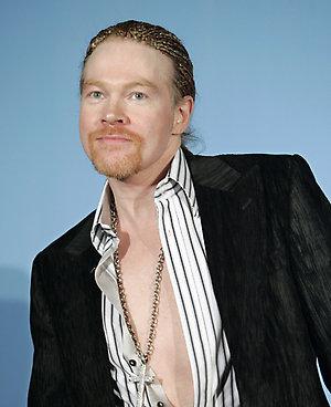 Former Guns N' Roses front man Axl Rose poses backstage at the 2006 MTV Video Music Awards in New York, on Thursday, Aug. 31, 2006. (AP Photo/Stephen Chernin)