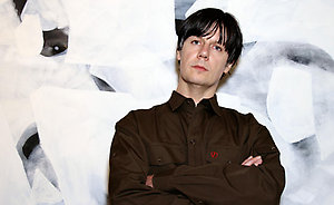Former member of The Stone Roses turned artist John Squire at the launch of his exhibition 'John Squire: New Work', at the Smithfield Gallery in central London.
