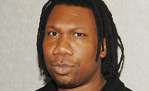 Rapper KRS-One poses backstage at MTV's Total Request Live, Wednesday, Feb.27, 2008 in New York. (AP Photo/Evan Agostini)