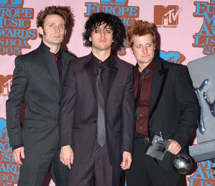 Green Day attends the MTV Europe Music Awards 2005 at the Atlantic Pavilion in Lisbon, Portugal.Picture: UK Press
