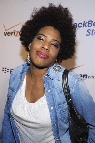 Recording artist Macy Gray attends the BlackBerry Storm party held in the Hollywood area of Los Angeles on Wednesday, Oct. 29, 2008. (AP Photo/Phil McCarten)