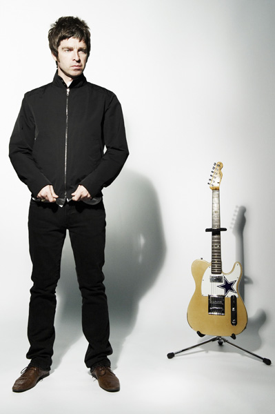 noel gallagher for the nme feature shot in black island studios