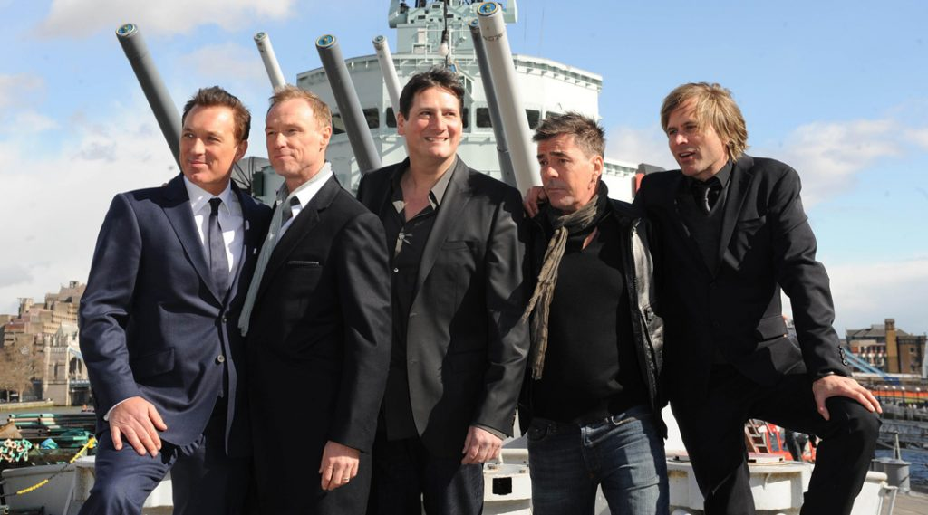 80's pop group Spandau Ballet announce their comeback at a photocall on HMS Belfast in London.