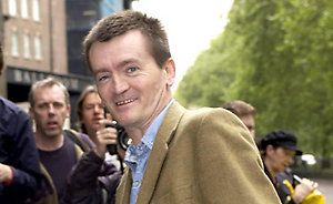Fergal Sharkey arrives for the Ivor Novello Awards at the Grosvenor House hotel on Park Lane in central London. The 49th annual awards honour the best songs and film scores of 2003.