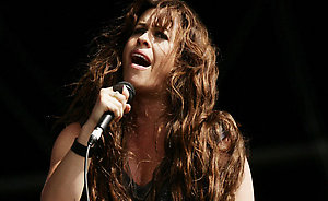 Alanis Morissette performing at the V Festival in Hylands Park, Chelmsford, Essex.
