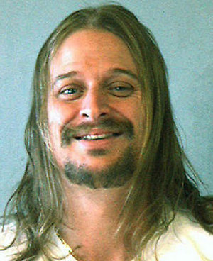 DEKALB COUNTY, GA - OCTOBER 21:  In this police mug shot from the DeKalb County Sheriff's Office, musician Kid Rock, or Robert J. Ritchie, poses for a mug shot October 21. 2007 in DeKalb County, Georgia. Kid Rock was arrested in the early morning of October 21 after a fight at a Waffle House restaurant in DeKalb County.  (Photo by DeKalb County Sheriff's Office via Getty Images) *** Local Caption *** Kid Rock