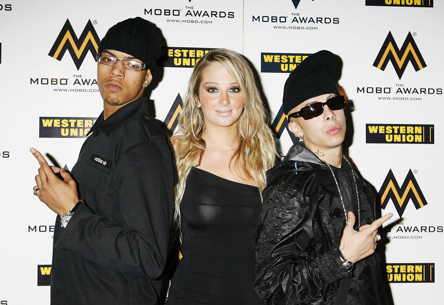 N-Dubz arrives at the Mobo Award Nominations at the Beach Blanket Babylon in London.