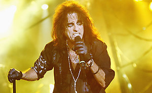 Alice Cooper performs live at the Motor Show, ExCeL in London.