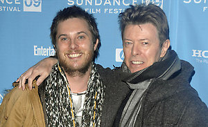 "Director Duncan Jones and singer David Bowie attend the premiere of ""Moon"" during the Sundance Film Festival in Park City, Utah, on Friday, Jan. 23, 2009. (AP Photo/Peter Kramer)"
