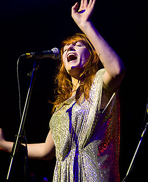 Florence and the Machine onstage at the O2 Academy Glasgow