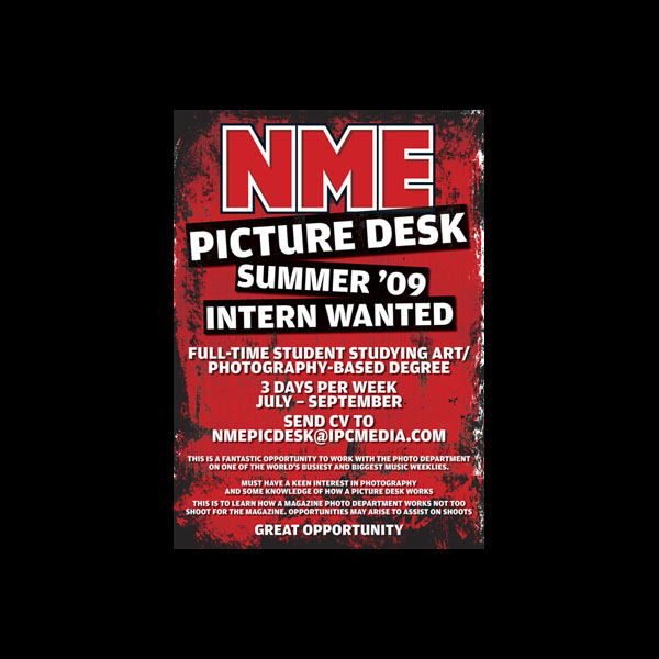 NME Picture desk posterTAM.indd