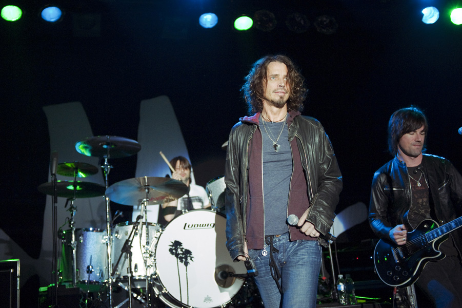 American rock singer-songwriter CHRIS CORNELL performing at the Commodore Ballroom in Vancouver, Canada on Tuesday, April 28, 2009. THE CANADIAN PRESS/David Zhang