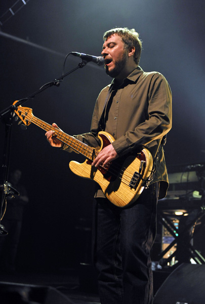 Jimi Goodwin of the Doves on stage at the Forum in Kentish Town, north London.