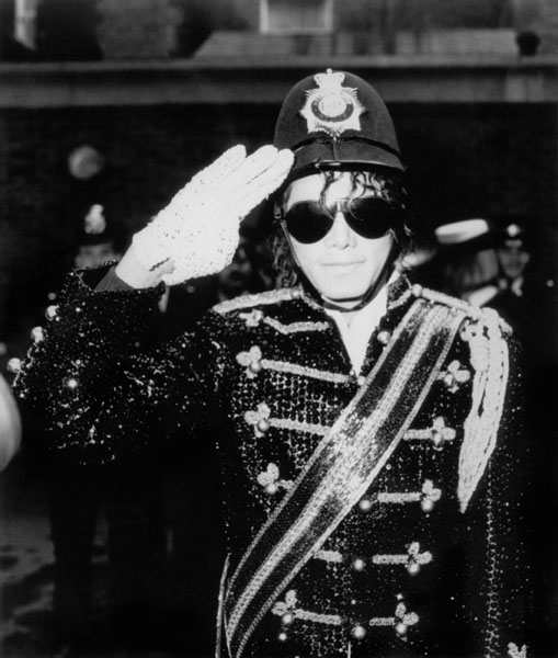 File photo dated 30/03/1985 of pop star Michael Jackson wearing an old policeman's helmet in London. The singer has been taken to hospital in California, reports said tonight.