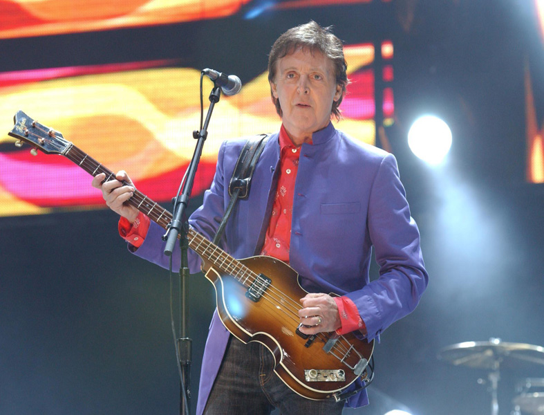 Sir Paul McCartney on the Other stage during the Glastonbury Festival, held at Worthy Farm in Pilton, Somerset.