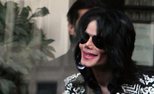 Michael Jackson spotted leaving the Lanesborough Hotel, central London on his way to a press conference at the O2, where Jackson it set to announce a set of London gigs.