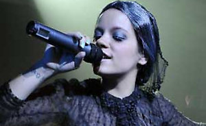 Lily Allen performs on stage at The Tabernacle in West London, as part of the MySpace Secret Shows Tour.