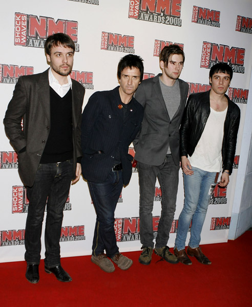 Johnny Marr and The Cribs arrive for the Shockwaves NME Awards 2008 at The O2 Arena in London.