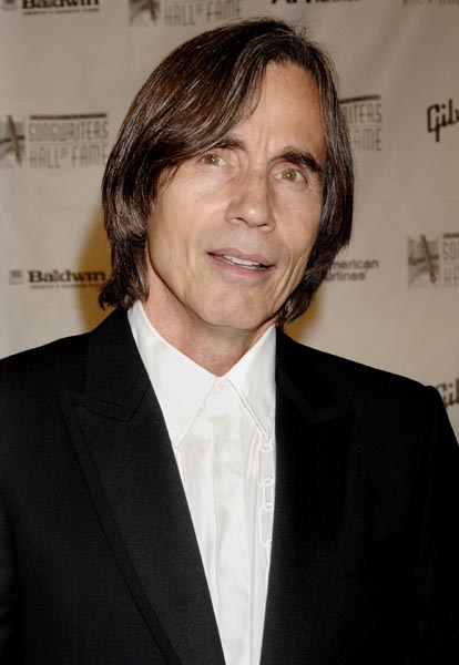 ** FILE ** Singer Jackson Browne arrives for the 2007 Songwriters Hall of Fame gala, in this June 7, 2007 file photo, in New York. Browne says that Democrat John Edwards is the most progressive candidate with a chance at winning the White House, and that he would do the most for working-class Americans. (AP Photo/ Louis Lanzano)