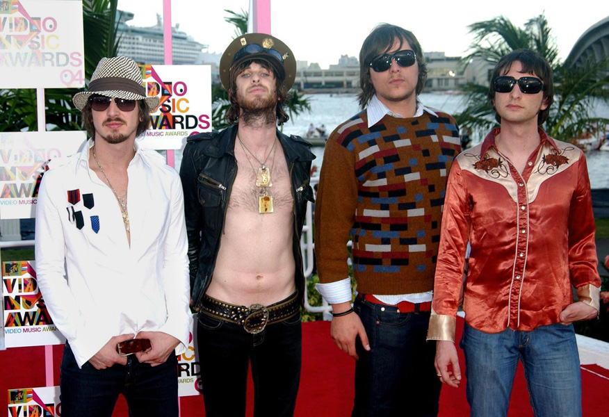 Australian band Jet arrive for the MTV Video Music Awards at the American Airlines Arena in Miami, Florida, United States.