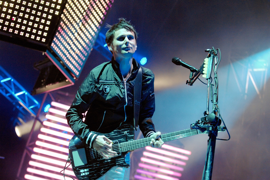 Matt Bellamy of UK rock band Muse performs live on stage during the 32nd 'Paleo' music Festival, in Nyon, Switzerland.