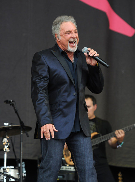 Tom Jones performing during the 2009 Glastonbury Festival at Worthy Farm in Pilton, Somerset.