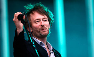 Thom Yorke of Radiohead performs live on stage during the Main Square Festival in Arras, France.