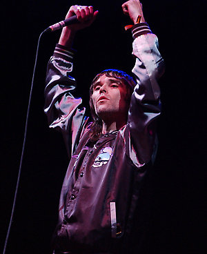 Former Stone Roses frontman Ian Brown performs on the Other Stage.