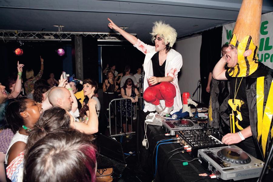 The Doctor & the Pencil DJ Set at Vibe Bar, Brick Lane, London 13.08.09. Shot  for NME News at the Brick Lane Takeover 2009