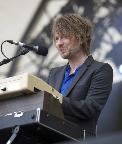 Thom Yorke performs on stage at the Latitude Festival, Henham Park in Southwold