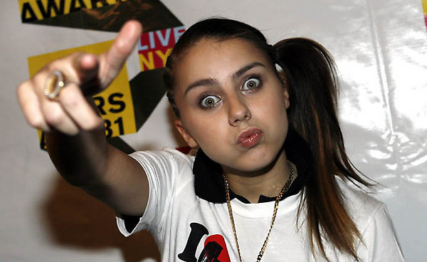British rapper Lady Sovereign poses during the MTV Video Music Awards Forum at Radio City Music Hall Wednesday, Aug. 30, 2006 in New York. The 2006 MTV Video Music Awards, hosted by Jack Black, will be held Thursday, Aug. 31, at New York's Radio City Music Hall. (AP Photo/Jason DeCrow)