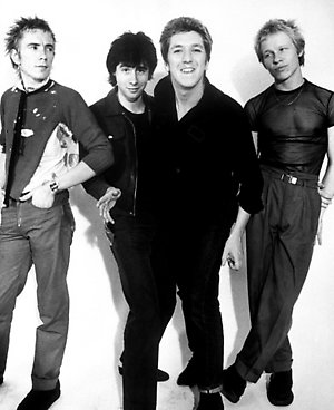 Britain's newest and most outrageous pop group The Sex Pistols (left to right) Johnny Rotten, Glen Matlock, Steve Jones and Paul Cook