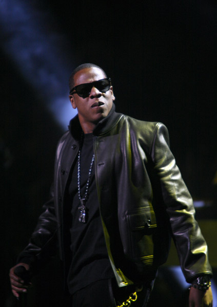 """Rapper Shawn """"Jay-Z"""" Carter performs at the 'Answer The Call' concert at Madison Square Garden benefitting the New York Police and Fire Widows' and Children's Benefit Fund, Friday, Sept. 11, 2009, in New York.  (AP Photo/Andy Kropa)"""