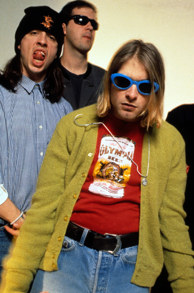 American rock band Nirvana photographed in the studio