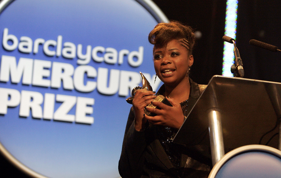 Speech Debelle wins the 2009 Barclaycard Mercury Prize at the Grosvenor House Hotel, Park Lane.