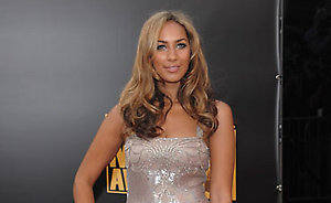 Leona Lewis arrives at the American Music Awards in Los Angeles on Sunday, Nov. 23, 2008. (AP Photo/Evan Agostini)